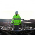 High level cleaning on roof